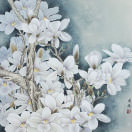 White Magnolia Flowers Painting