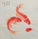 Good Luck Koi Fish<br>Large Chinese Painting