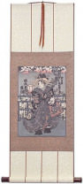 Japanese Geisha Print Wall Scroll