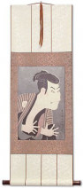 Samurai Actor - Japanese Woodblock Print Repro - Wall Scroll