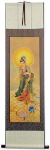 Guanyin Buddha Print - Wall Scroll
