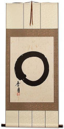 Enso Japanese Symbol - Large Wall Scroll