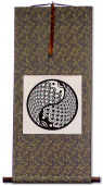 Yin Yang Fish Print Wall Scroll