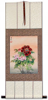 Peony Flower Wall Scroll
