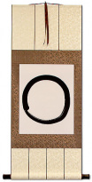 Enso - Buddhist Circle Calligraphy - Wall Scroll