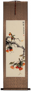 Autumn Feeling - Bird and Flower Wall Scroll