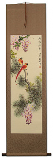 Song of Birds - Chinese Bird and Flower Scroll