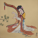 Elegant Asian Woman Painting