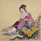 Asian Beauty<br>Beautiful Asian Woman Painting