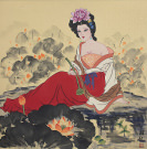 Chinese Beautiful Woman Painting