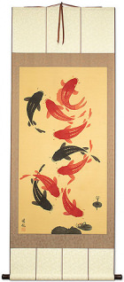 Koi Fish Wall Scroll