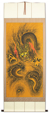 Flying Chinese Dragon - Extra-Large Chinese Scroll