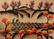 Plowing and Weeding<br>Chinese Peasant Folk Art Painting