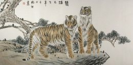 Chinese Tigers<br>Large Painting