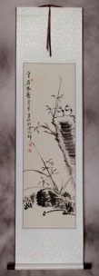 Fragrance From The Valley - Chinese Birds Wall Scroll