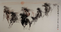 Galloping Horses<br>Chinese Painting