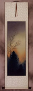 Twilight Birds' Song Wall Scroll