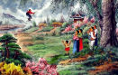 Swinging Fun<br>North Korean Painting