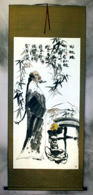 Zheng Banqiao<br>Wall Scroll
