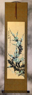 Green Spring Plum Blossom Wall Scroll