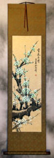 Green Plum Blossom - Asian Scroll