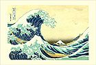 The Great Wave of Kanagawa<br>Japanese Woodblock Print Reproduction