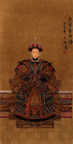 Empress Ancestor - Partial-Print Wall Scroll close up view