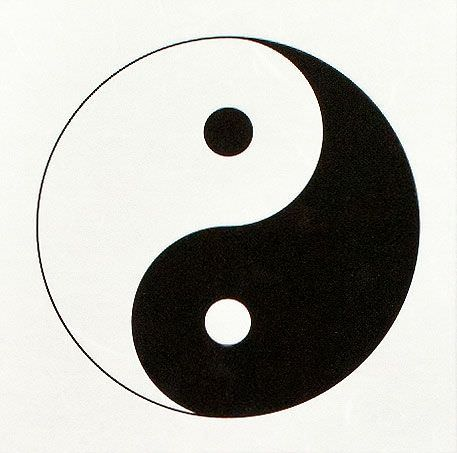 Yin Yang Symbol - Chinese Philosophy Wall Scroll close up view