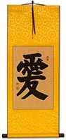 Wall Scroll with Emperor Yellow Silk
