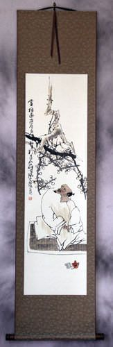 Enjoying the Plum Blossoms<br>Wall Scroll