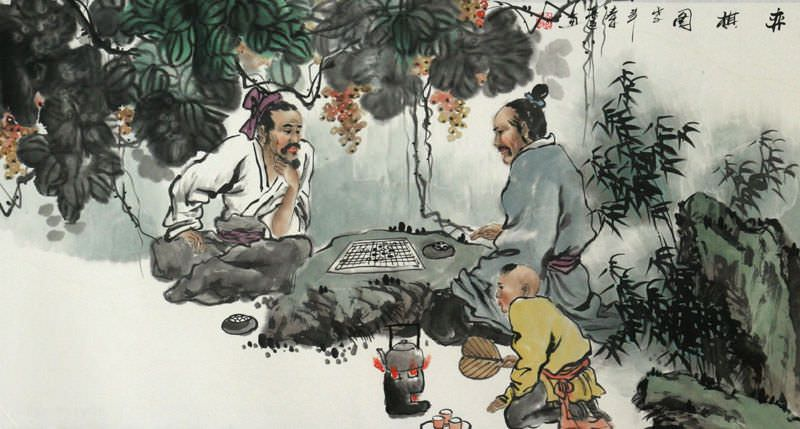 Chinese Chess - Ancient Style Painting