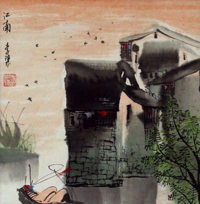 Suzhou Birds - Chinese Venice Painting