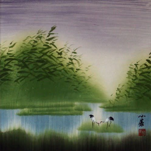 "See how ""Cranes Return Home - Chinese Painting"" would look after being professionally framed"