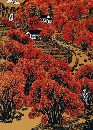 Deep Mountain Harvest - Chinese Folk Art Painting