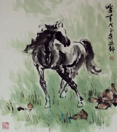 Proud Steed<br>Asian Horse Painting