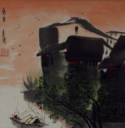 Birds Over Suzhou - Chinese Landscape Painting