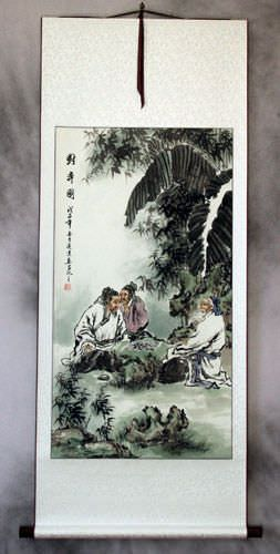 Chinese Chess<br>Ancient Style Wall Scroll
