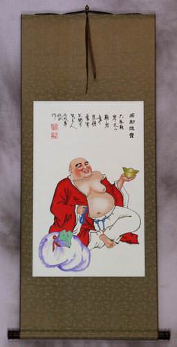 Happy Jolly Buddha Wall Scroll
