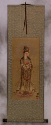 Guanyin Buddha - Buddhist Deity - Partial Print Wall Scroll