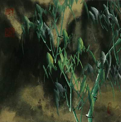 Bamboo Shadows<br>Chinese Painting
