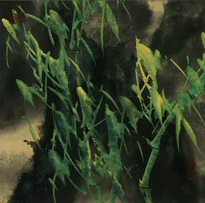 "See how ""Bamboo Mist - Chinese Painting"" would look after being professionally framed"
