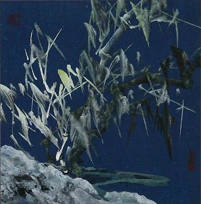 "See how ""Frosty Bamboo at Dawn - Chinese Painting"" would look after being professionally framed"