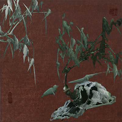 Abstract Frosty Bamboo<br>Chinese Painting