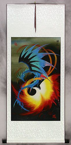 Chinese Dragon and Phoenix<br>Wall Scroll