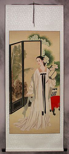 Lady in Waiting - Large Wall Scroll