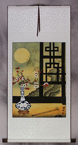 Chinese Still Life Scene Wall Scroll