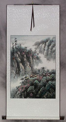 Colors of Spring at Mountain Village - Landscape Wall Scroll