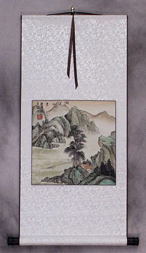 Scenic Lake and Mountain - Landscape Wall Scroll
