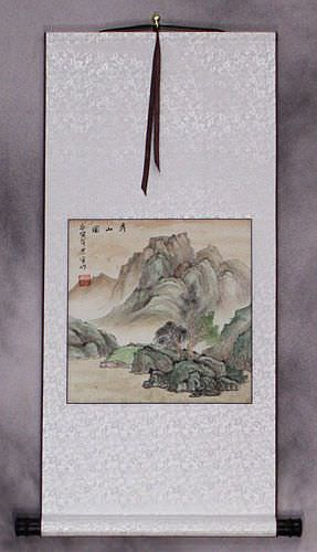 Simple Chinese Landscape Wall Scroll