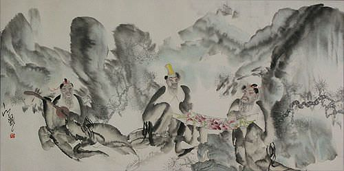 "See how ""Jiang Feng's Abstract Chinese Art"" would look after being professionally framed"